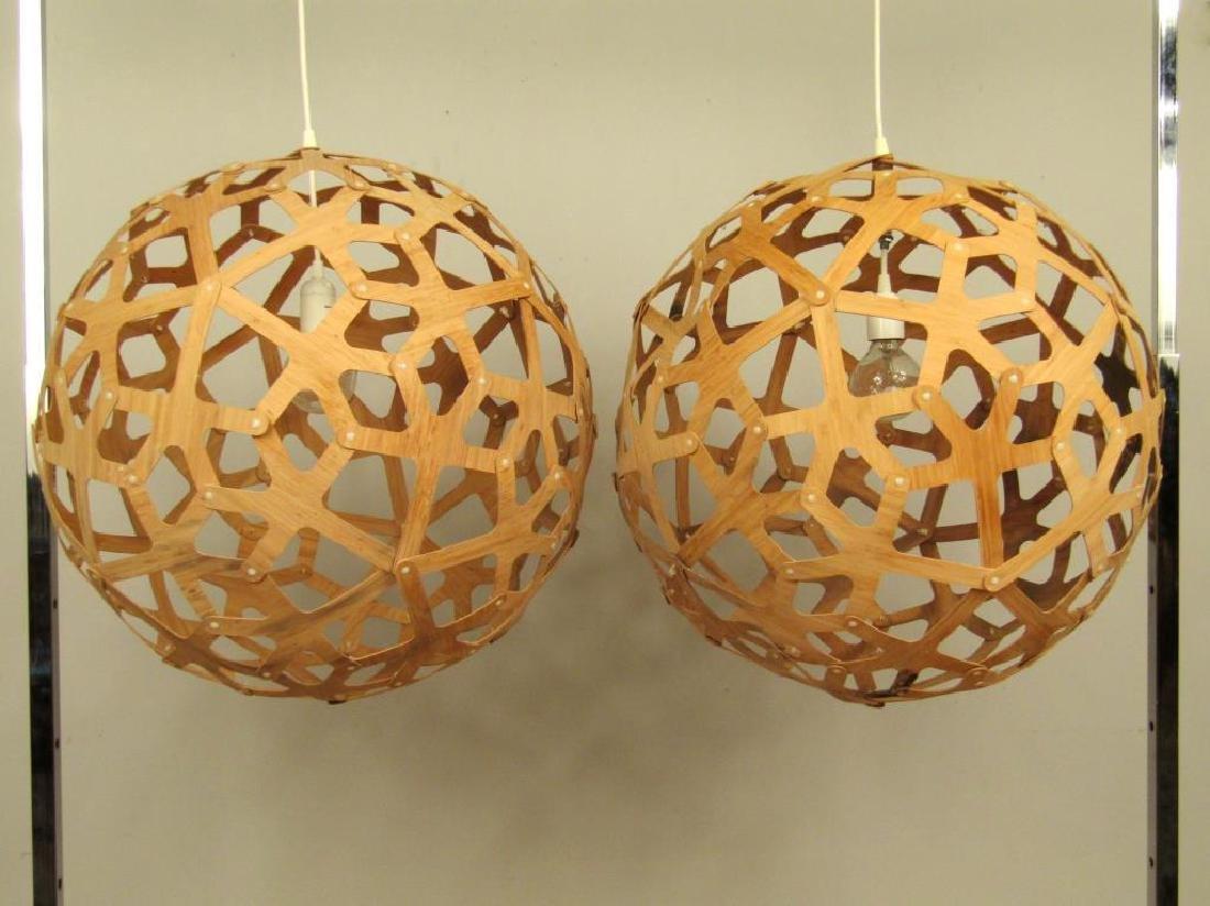 Pair Mid-Century Geometric Fixtures