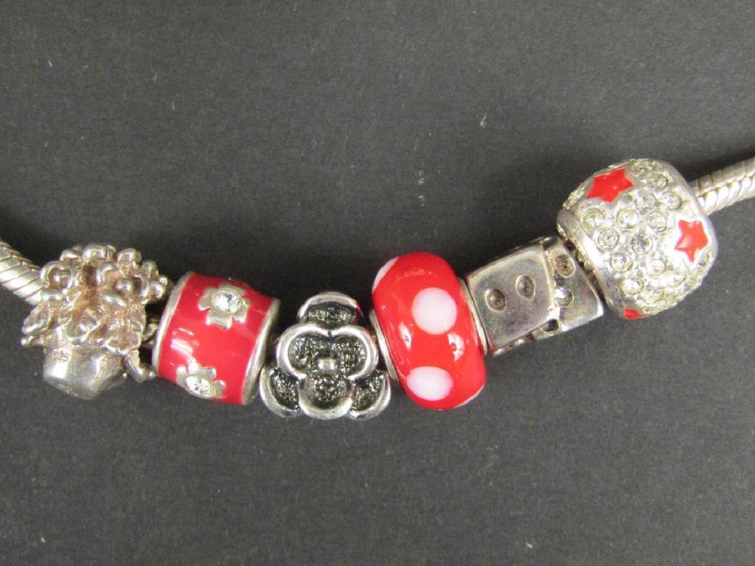 3 Sterling Silver Amore & Baci Charm Bracelets - 4