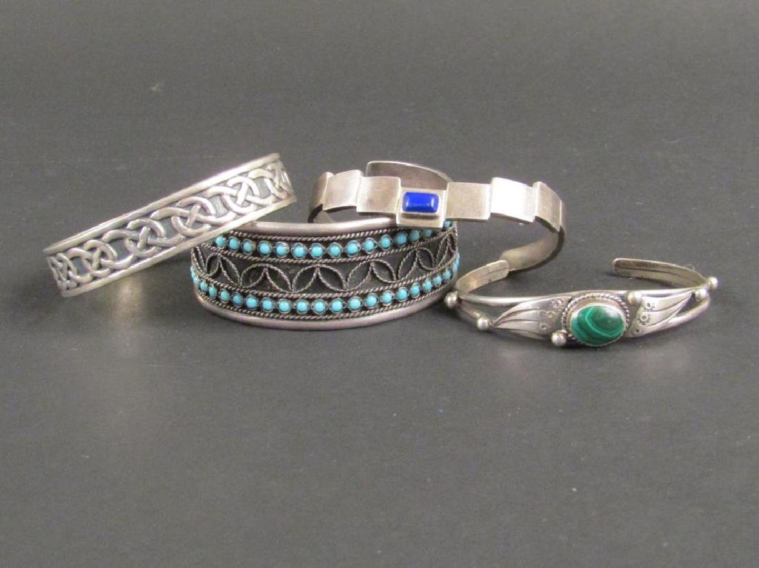 Assorted Silver and Metal Cuffs