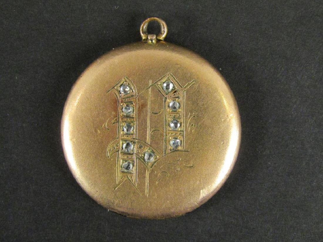 Antique Gold Tone and Other Metal Jewelry - 7