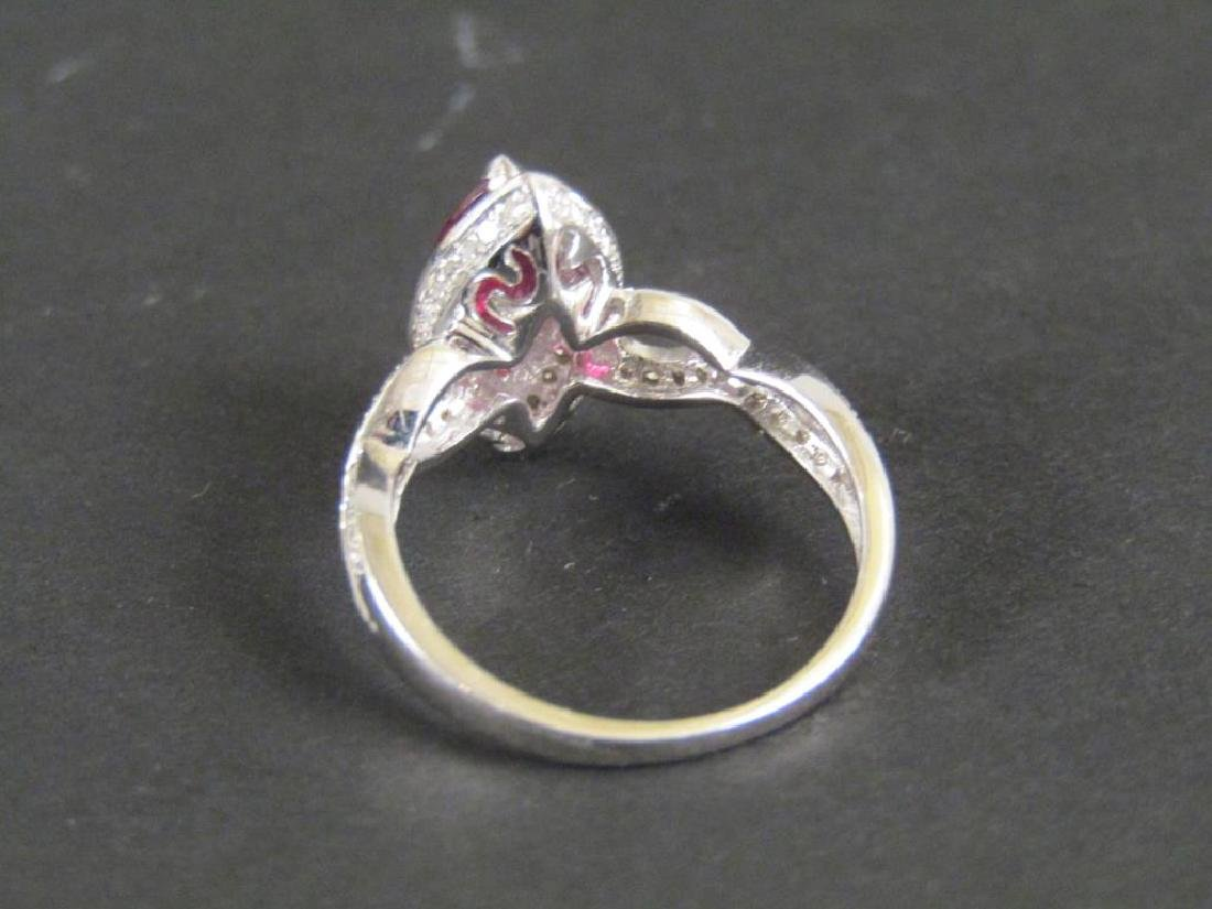 14K White Gold Ring - 2