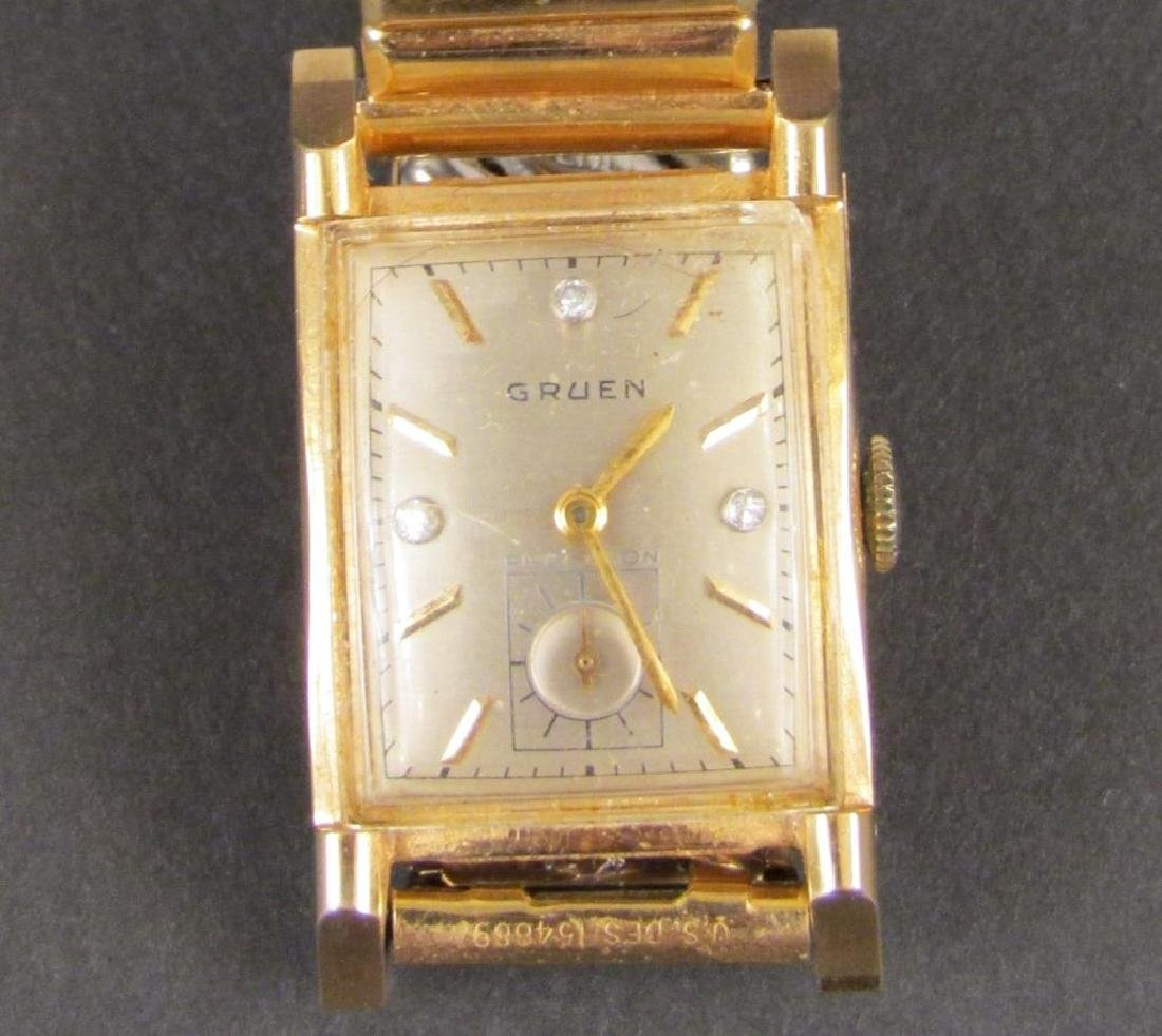 Gruen 14K Gold Mans Wrist Watch