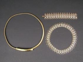 3 Gold Toned Costume Jewelry Articles