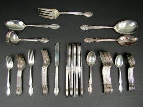 50 Piece Silver Plated Flatware Set