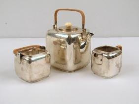 E. Dragsted Danish Sterling Silver Tea Set
