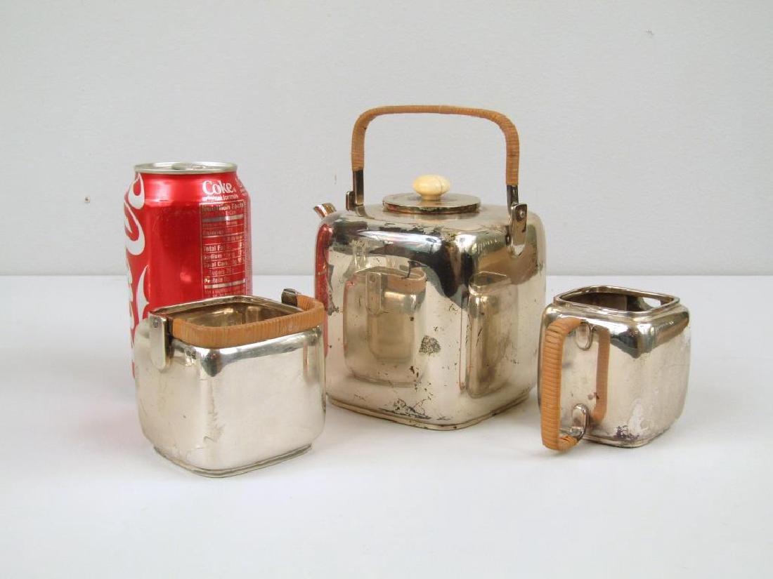 E. Dragsted Danish Sterling Silver Tea Set - 2