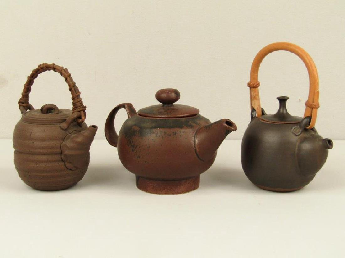 3 Japanese Ceremonial Teapots