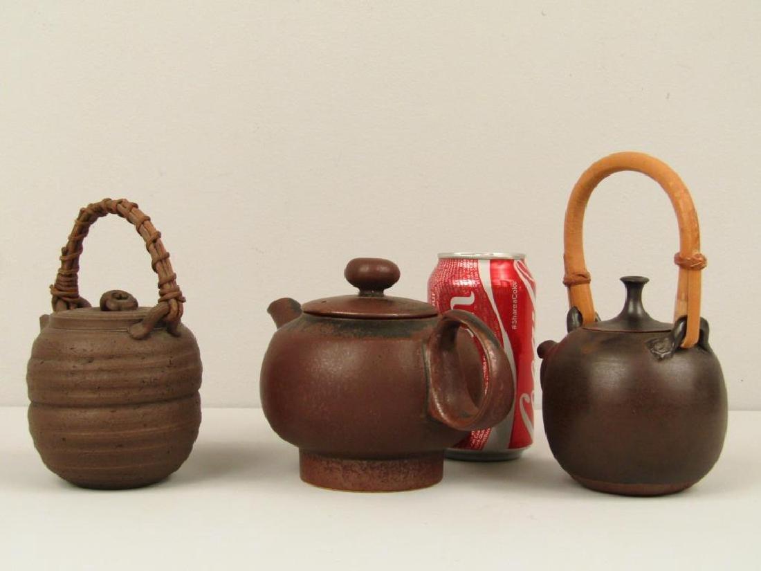 3 Japanese Ceremonial Teapots - 2