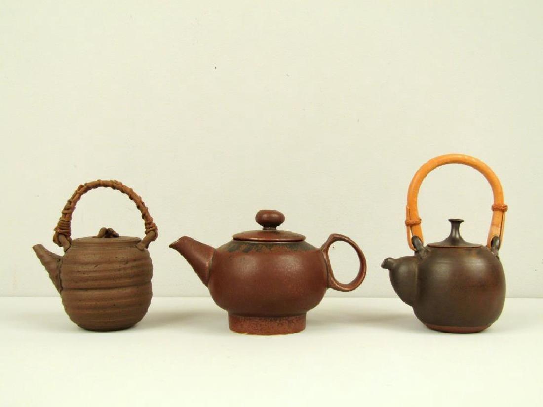 3 Japanese Ceremonial Teapots - 3