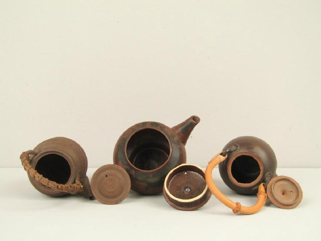 3 Japanese Ceremonial Teapots - 4