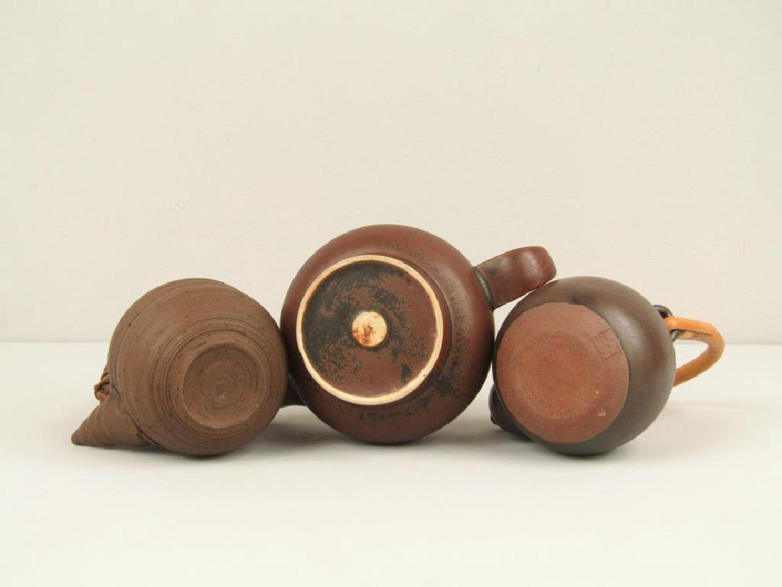 3 Japanese Ceremonial Teapots - 5