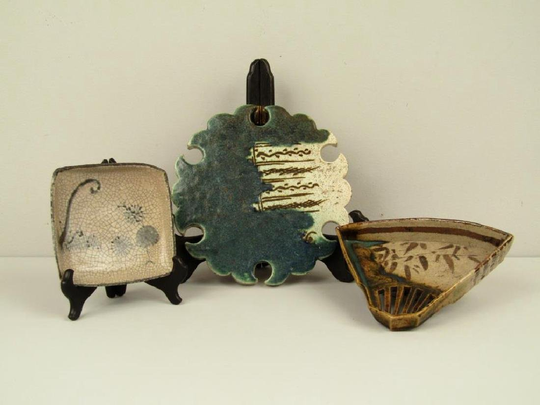 3 Japanese Glazed Ceramic Articles
