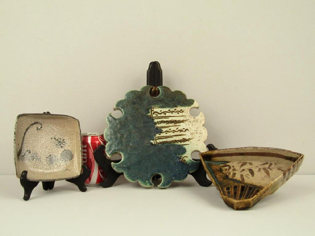 3 Japanese Glazed Ceramic Articles - 2