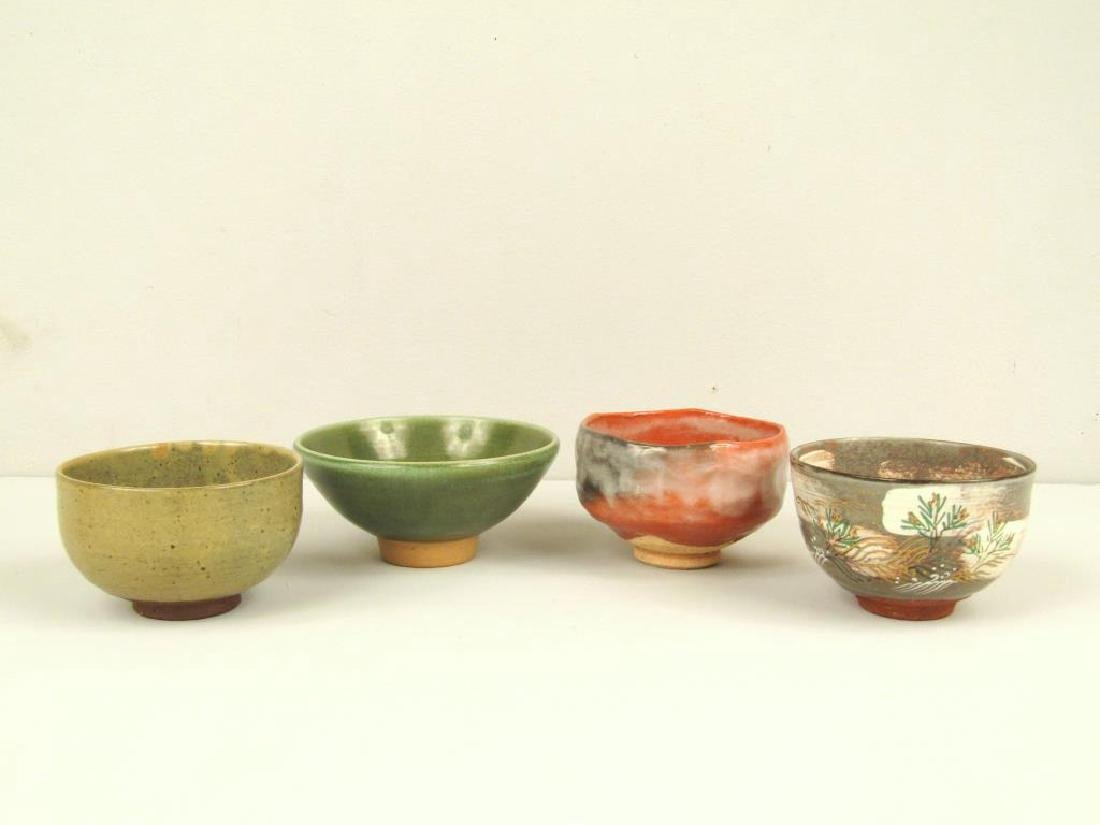4 Japanese Glazed Ceramic Articles