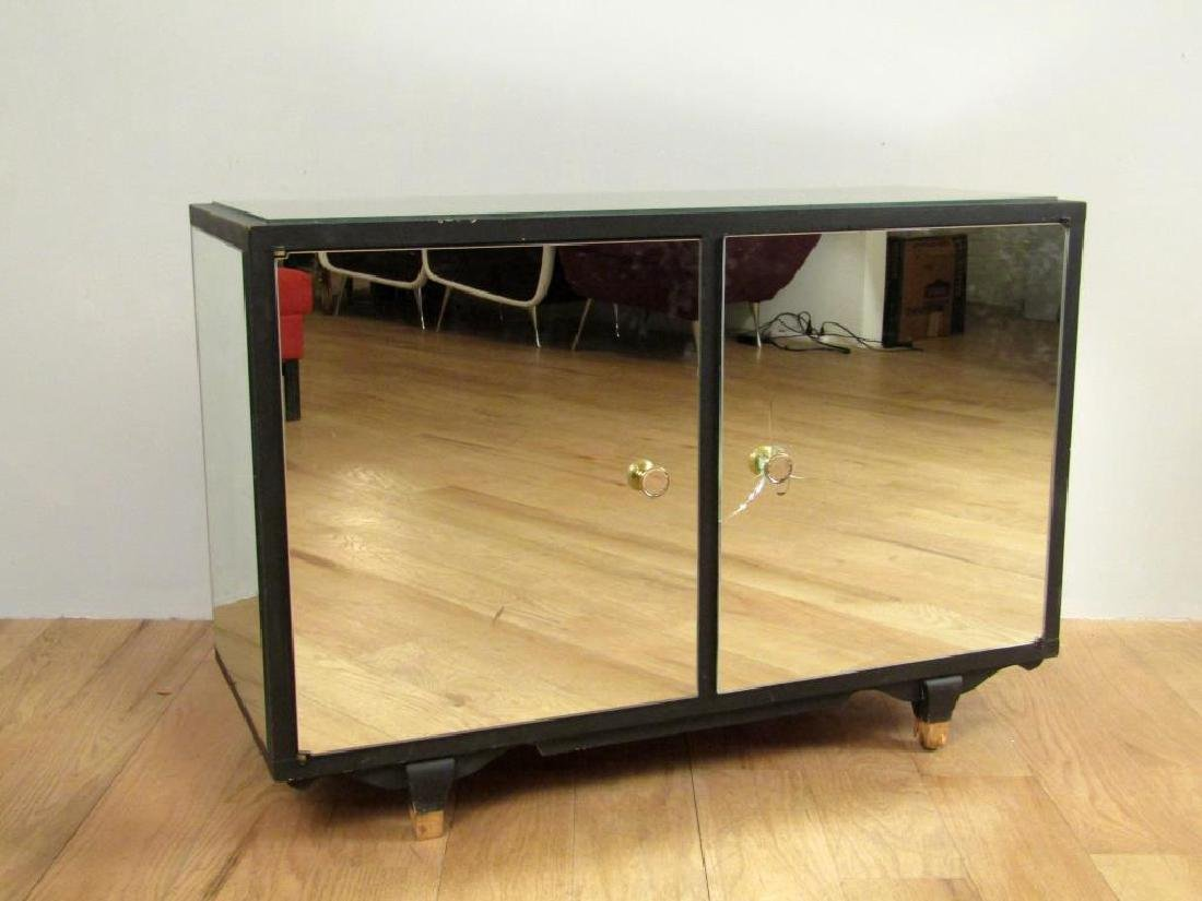 French Art Deco Mirrored Cabinet (as is)