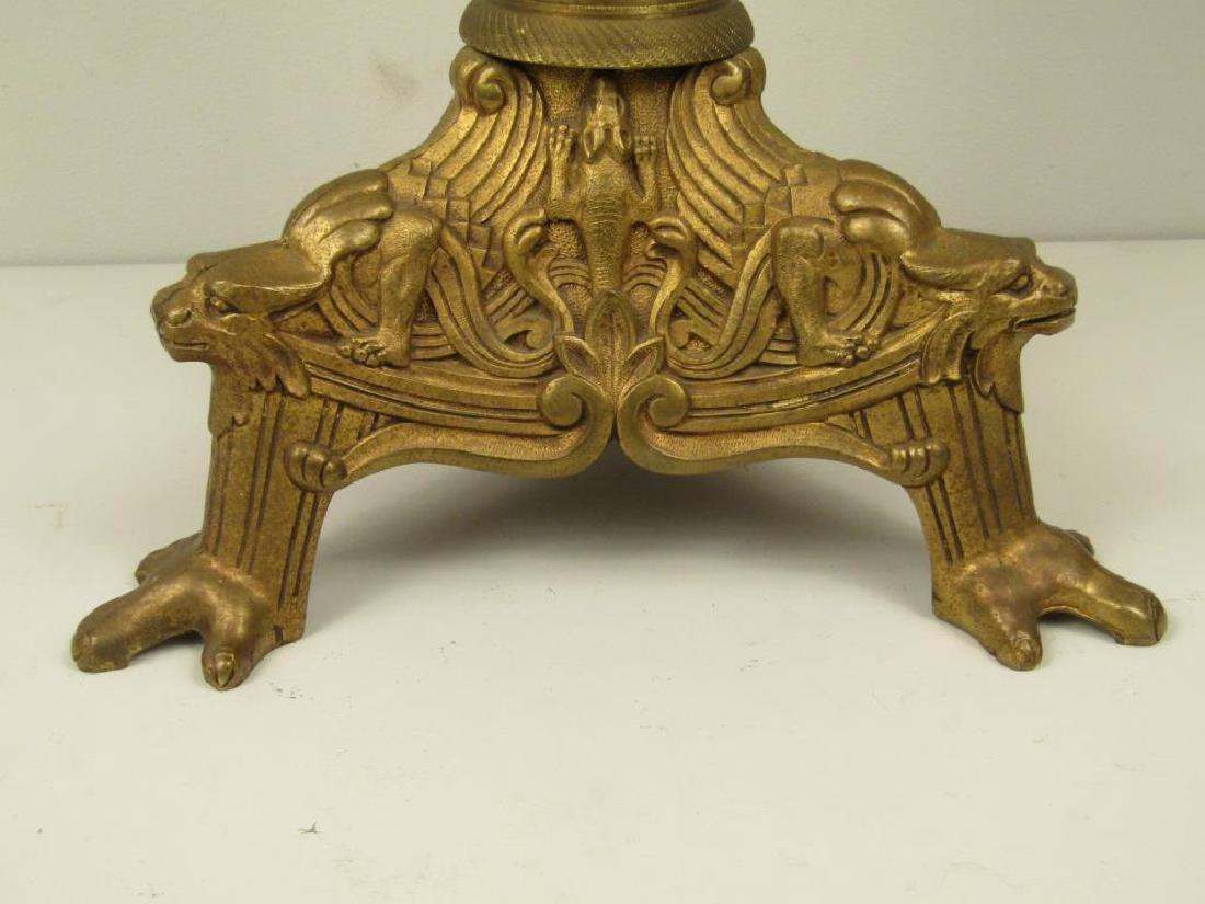 French Empire Tripod Lamp C. 1840 - 5