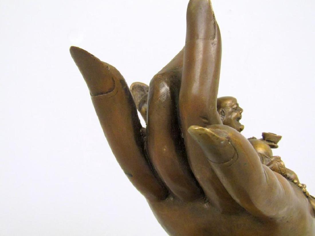 Chinese Bronze Hand Sculpture - 3
