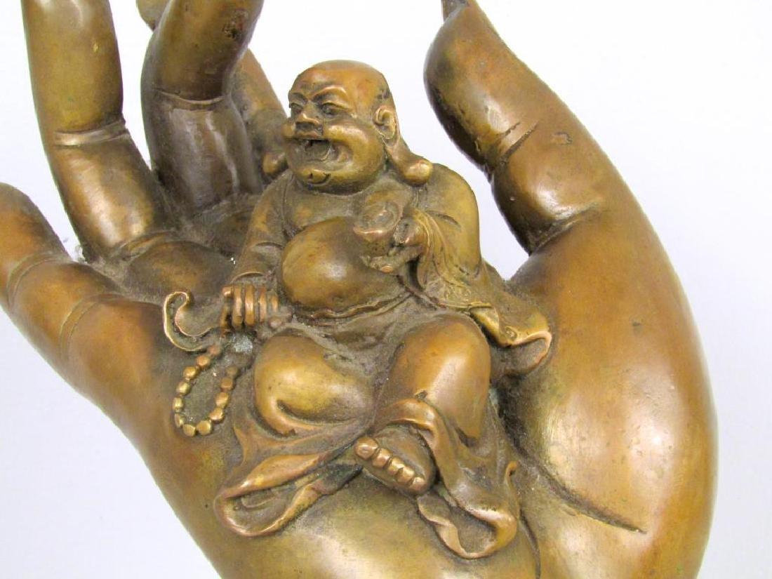 Chinese Bronze Hand Sculpture - 4