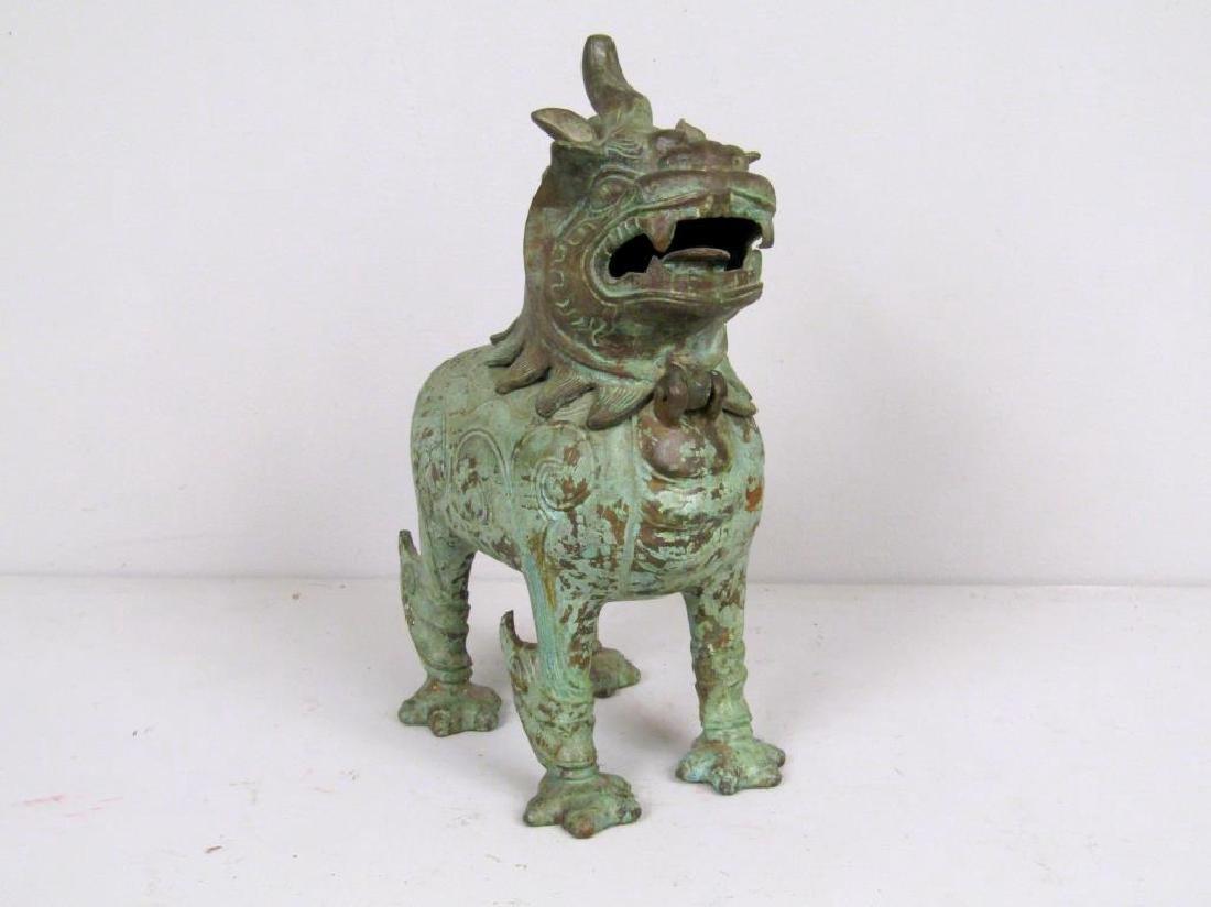 Chinese Bronze Foo Dog Figure
