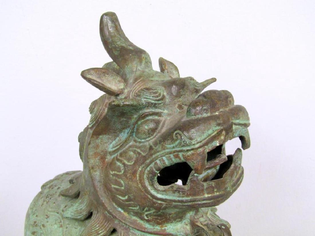 Chinese Bronze Foo Dog Figure - 4