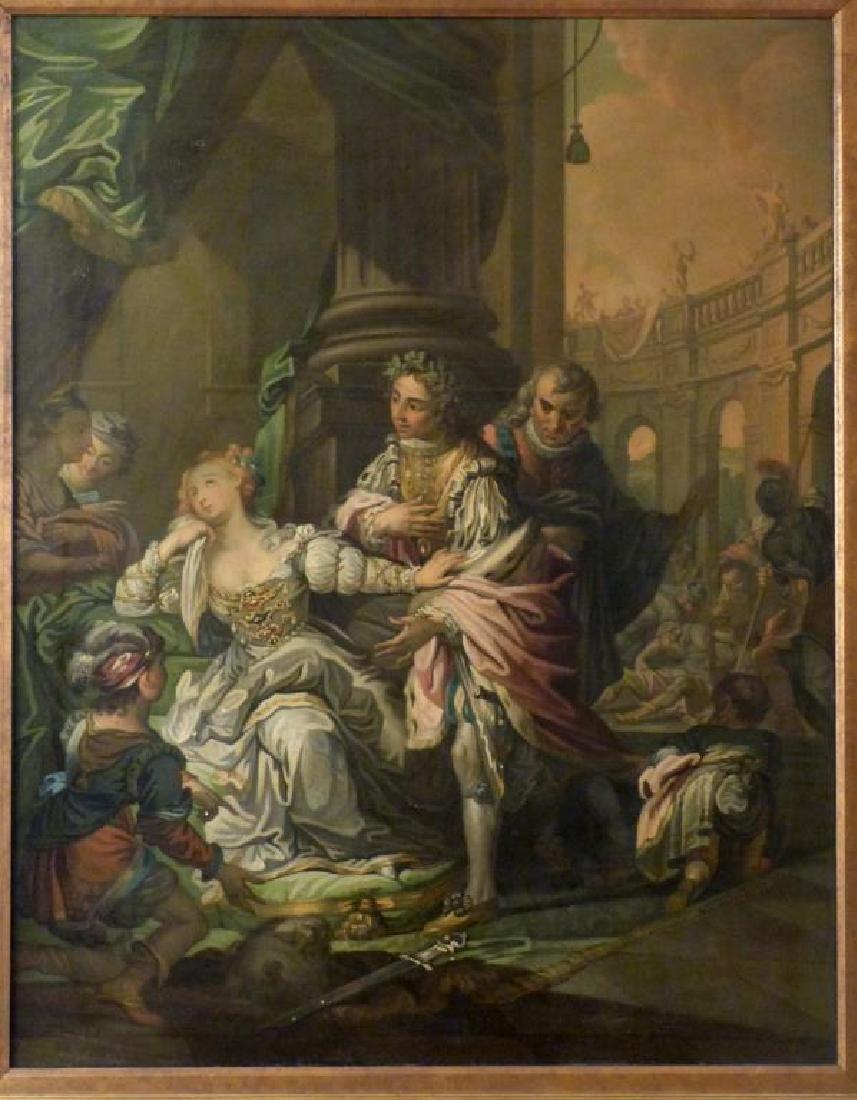Austrian School Oil on Canvas - Court Scene