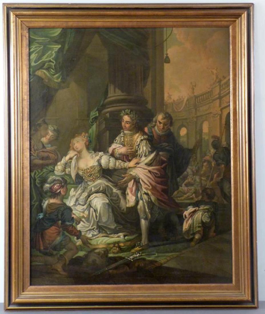 Austrian School Oil on Canvas - Court Scene - 2
