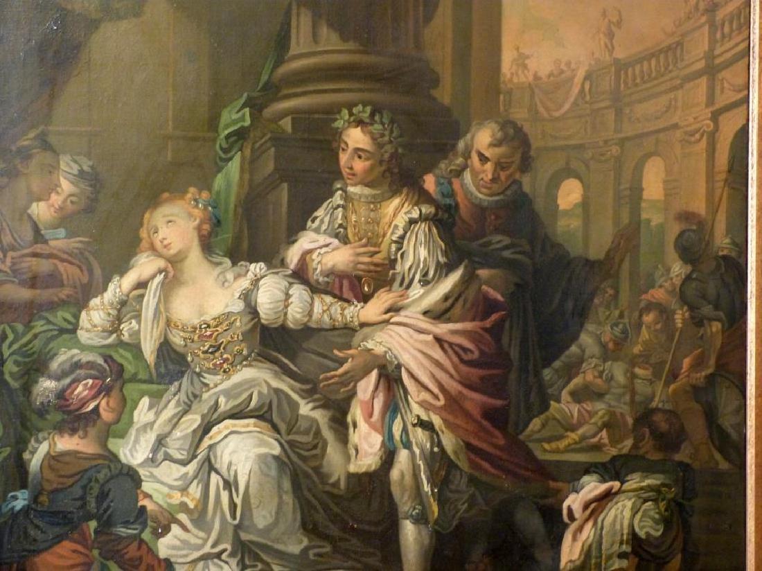Austrian School Oil on Canvas - Court Scene - 3