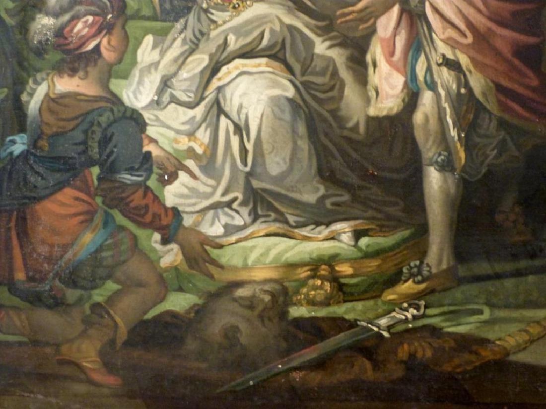 Austrian School Oil on Canvas - Court Scene - 4