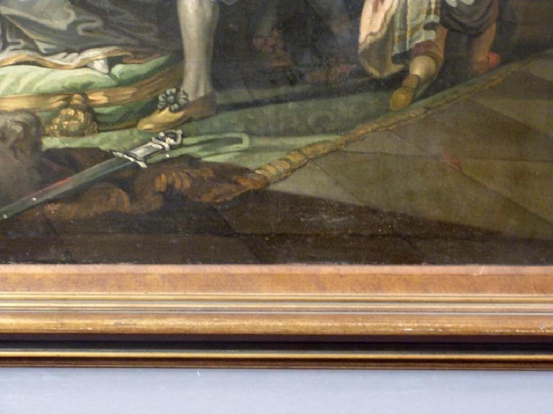 Austrian School Oil on Canvas - Court Scene - 6