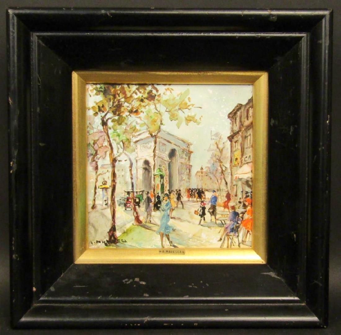 A. Maresca (Italian, 20th C.) - Oil on Tile