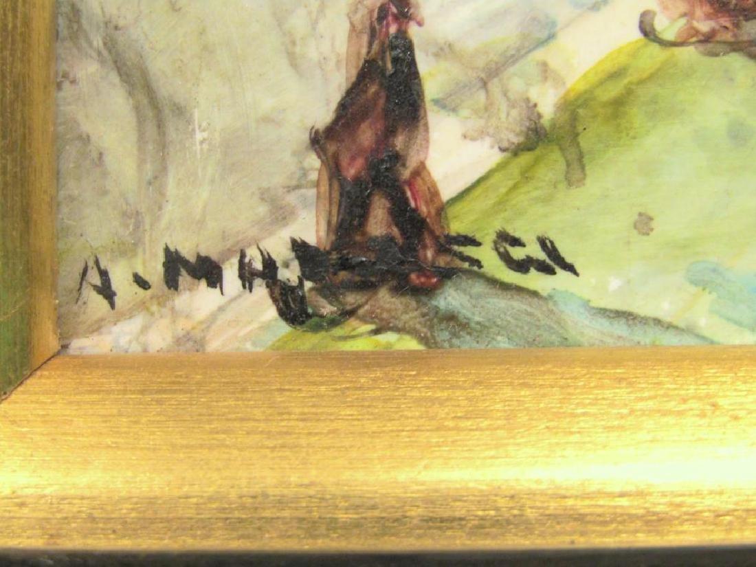 A. Maresca (Italian, 20th C.) - Oil on Tile - 3