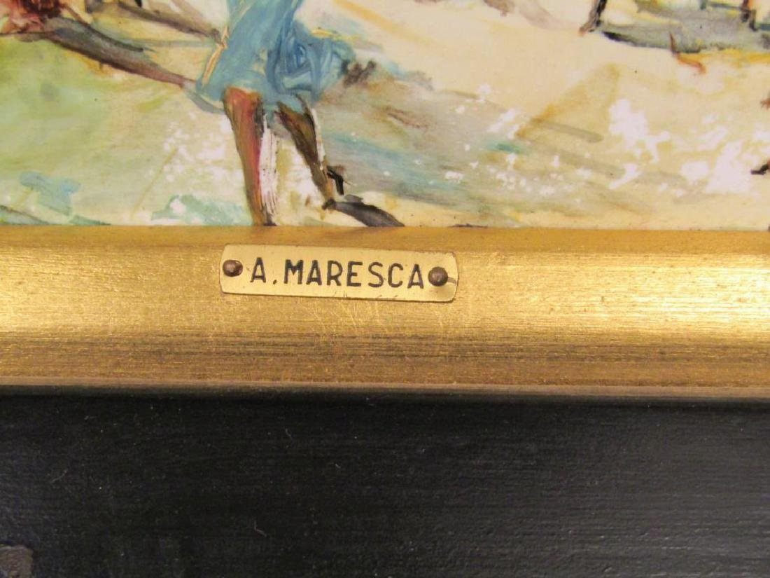 A. Maresca (Italian, 20th C.) - Oil on Tile - 4