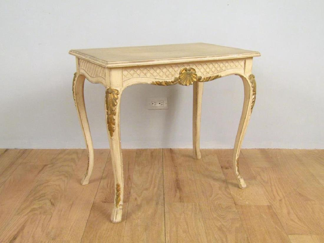 French Style Painted Lamp Table