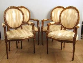 Set of 8 French Style Armchairs