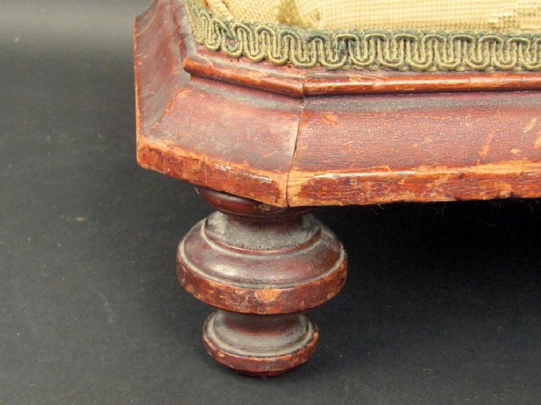 Small Needlepoint Footstool - 4