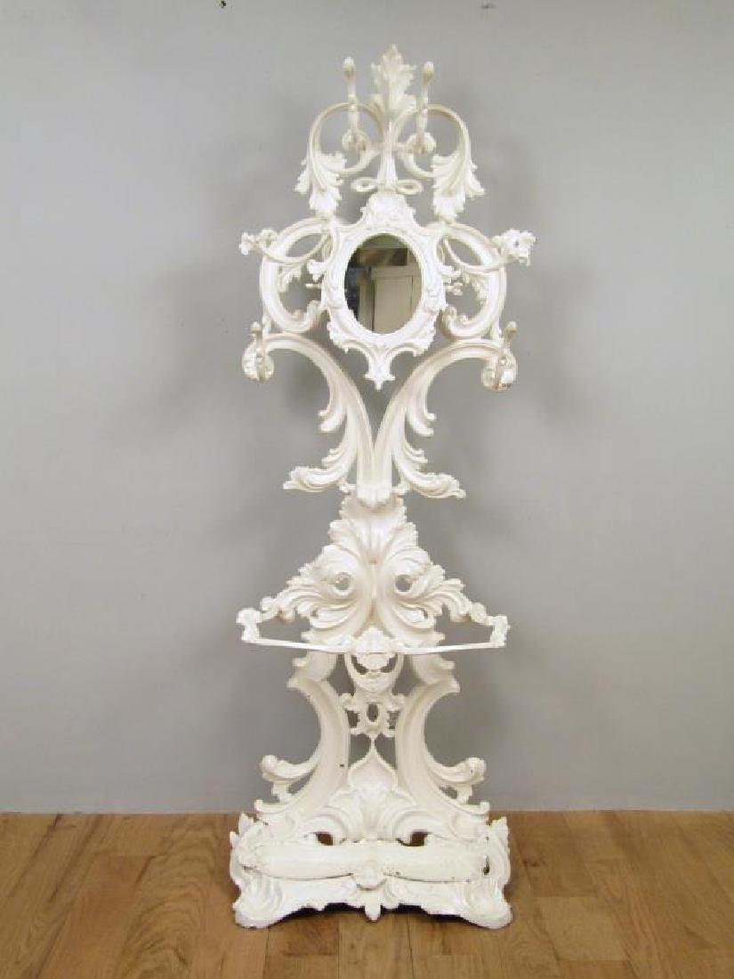 Victorian Style Painted Metal Hall Stand