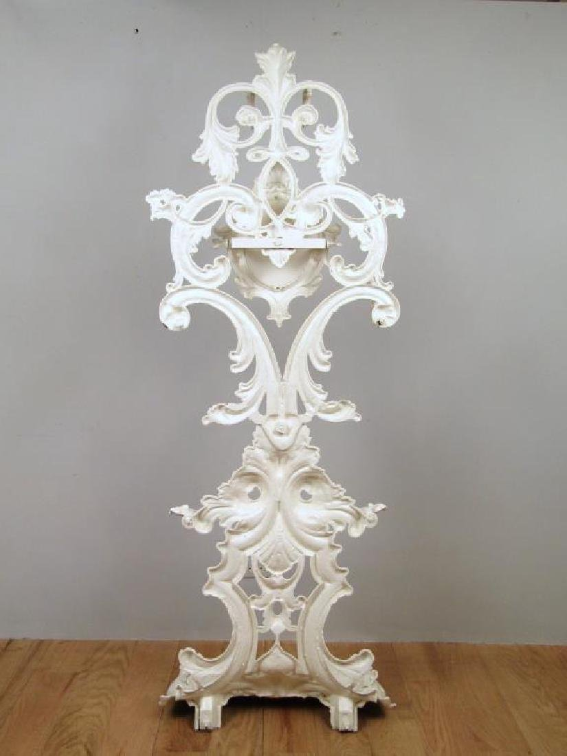 Victorian Style Painted Metal Hall Stand - 2