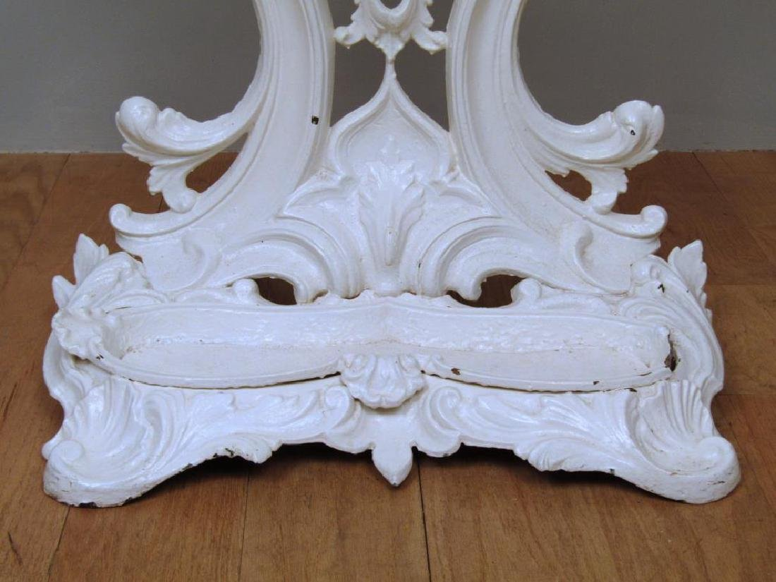 Victorian Style Painted Metal Hall Stand - 6