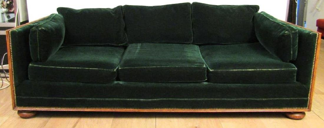 French Style Carved Squared Frame Sofa
