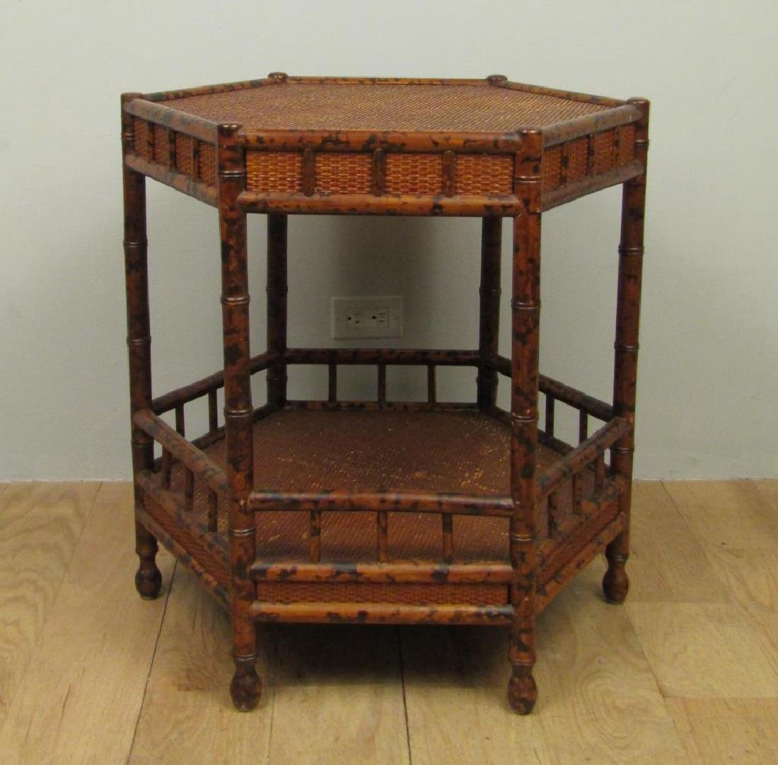 Chinese 2 Tier End Table