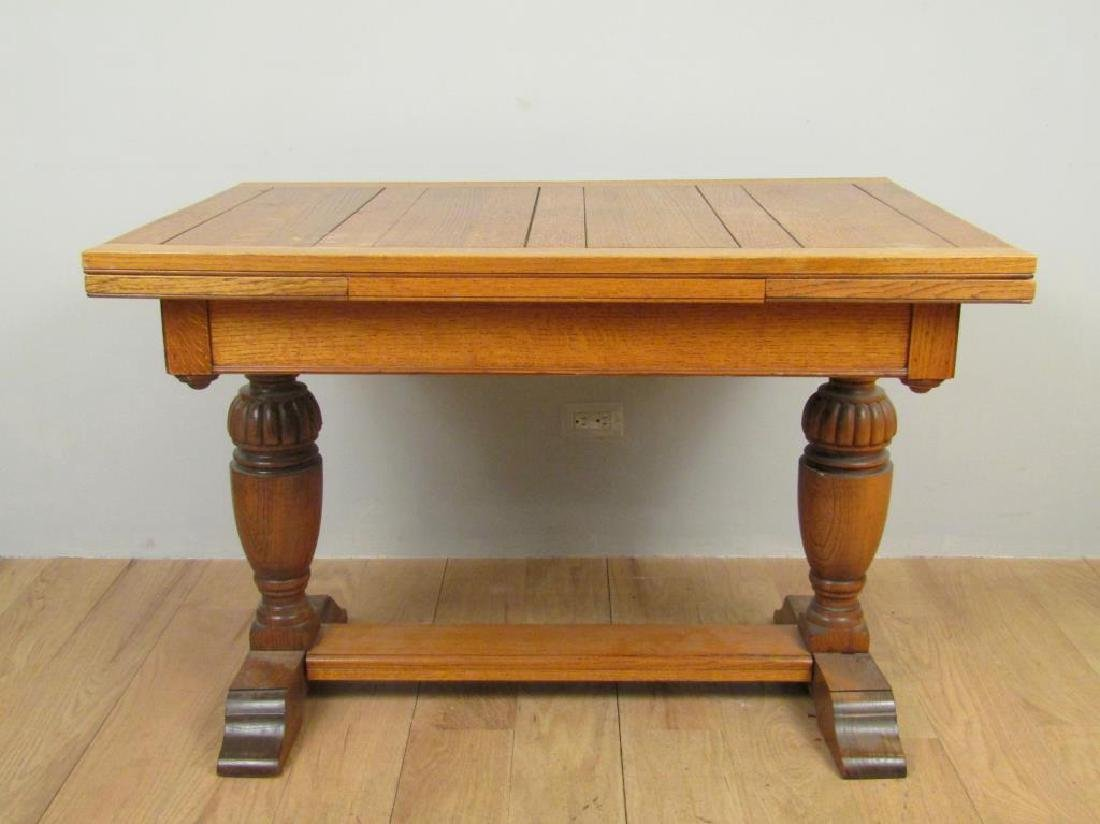 American Oak Draw Leaf Dining Table