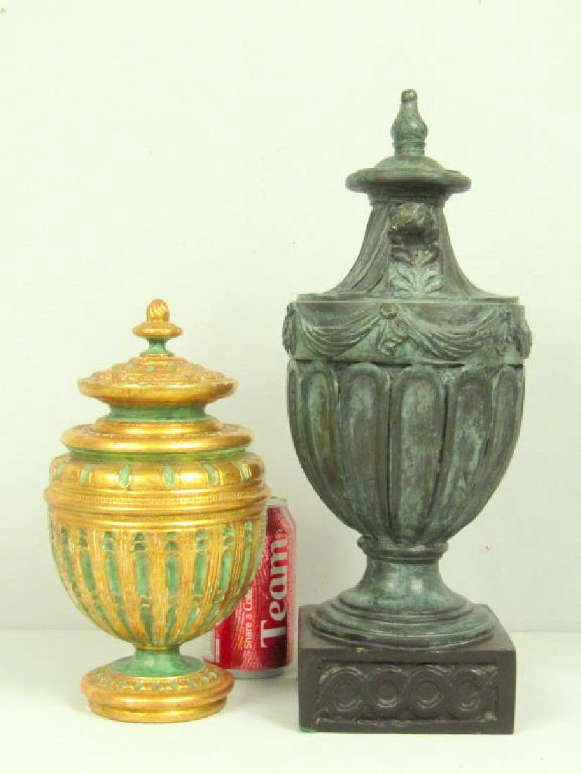 2 Faux Covered Urns - 2