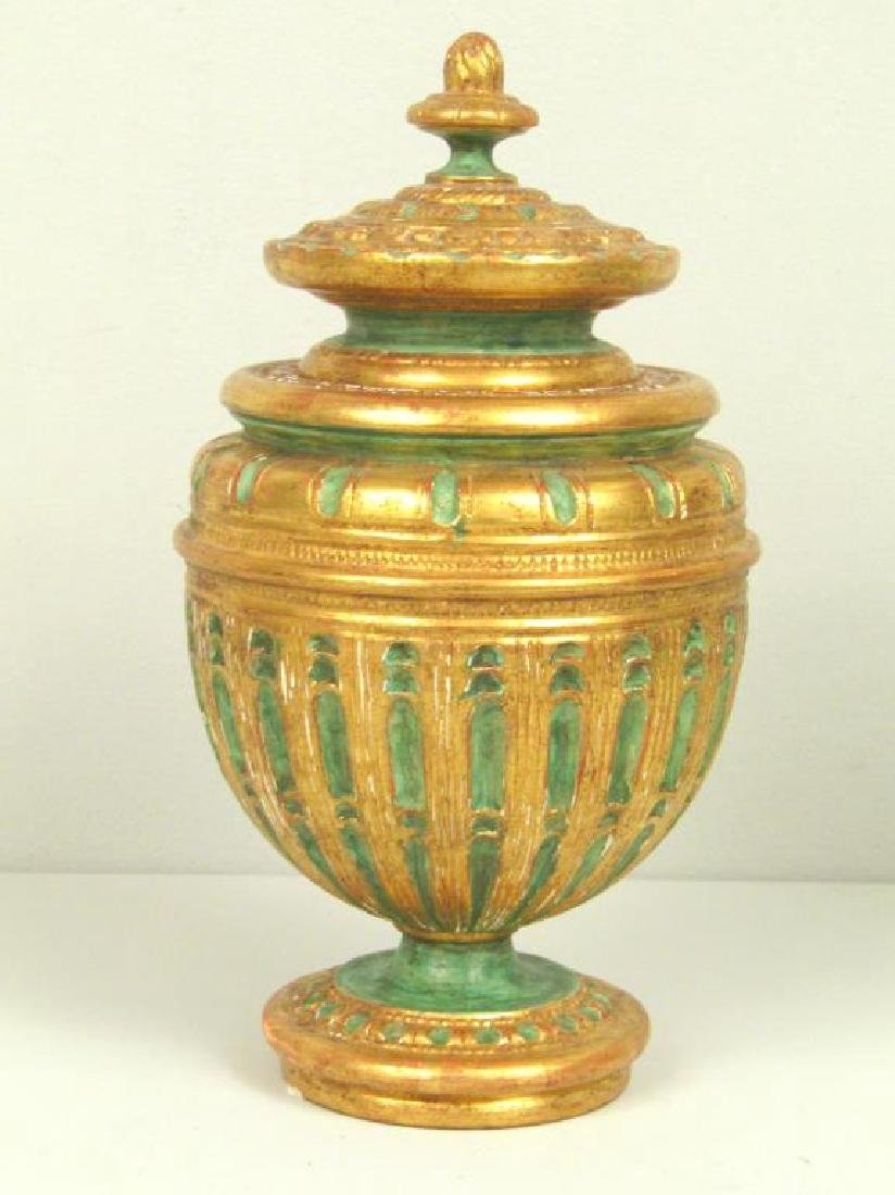 2 Faux Covered Urns - 3