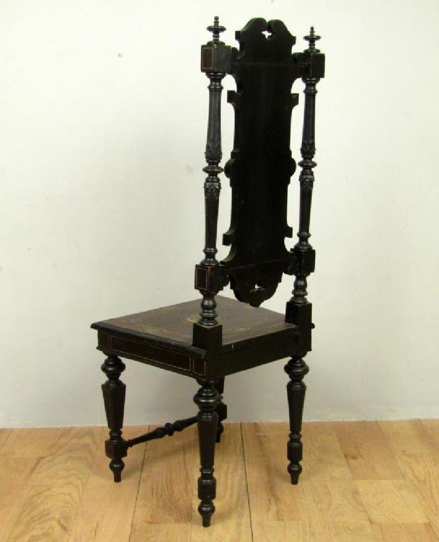 Italian Decorated and Carved Hall Chair - 2