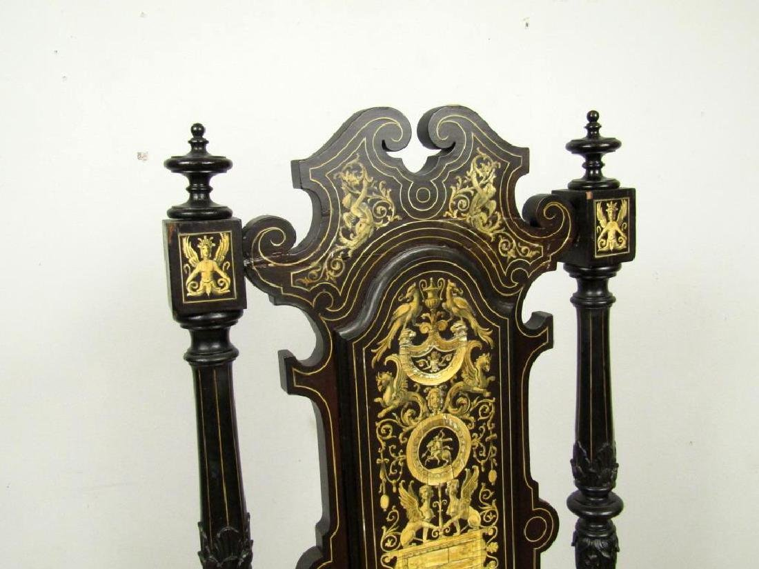 Italian Decorated and Carved Hall Chair - 3