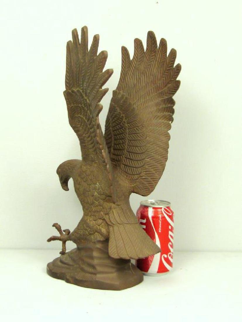 Bronze Eagle Sculpture - 2