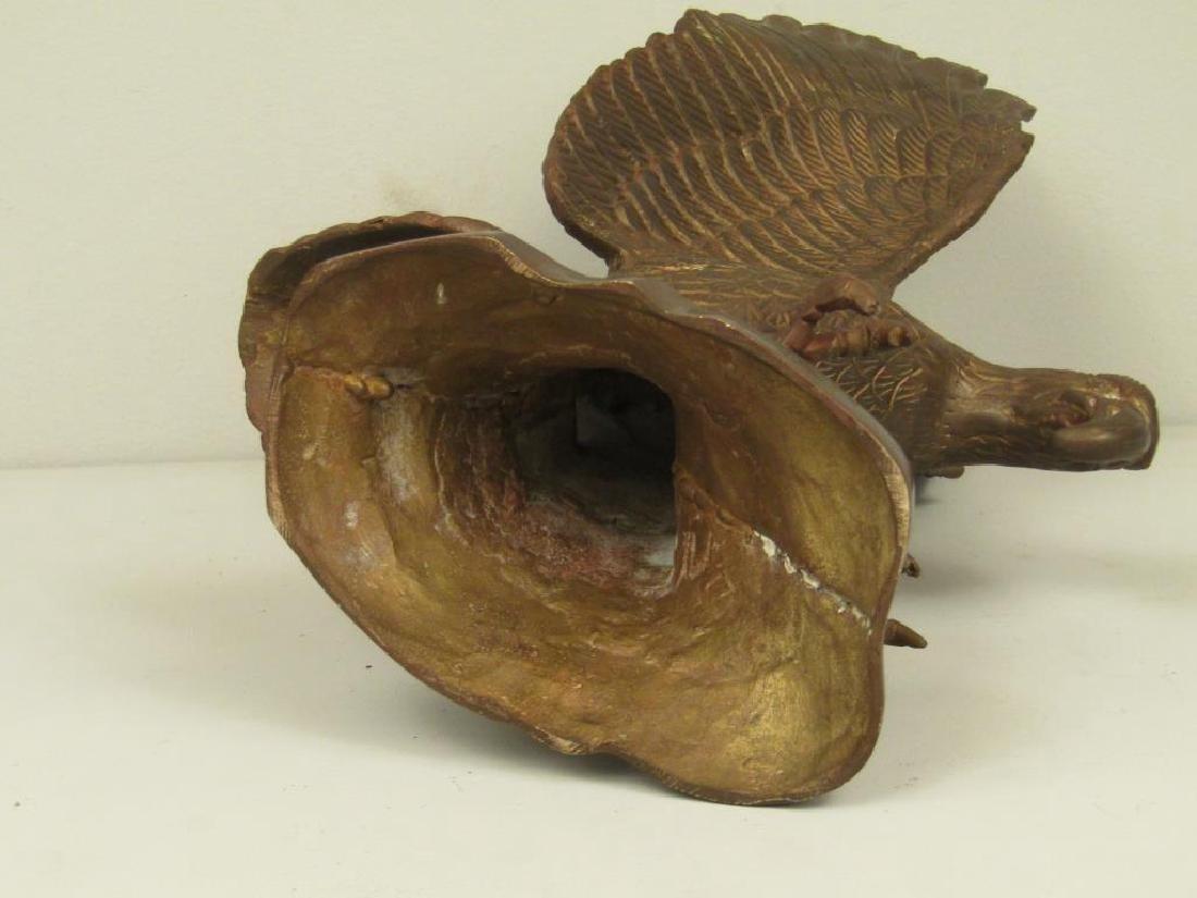 Bronze Eagle Sculpture - 6