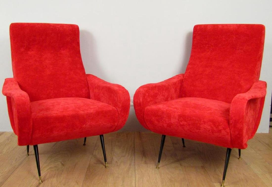 Pair Mid Century Style Arm Chairs
