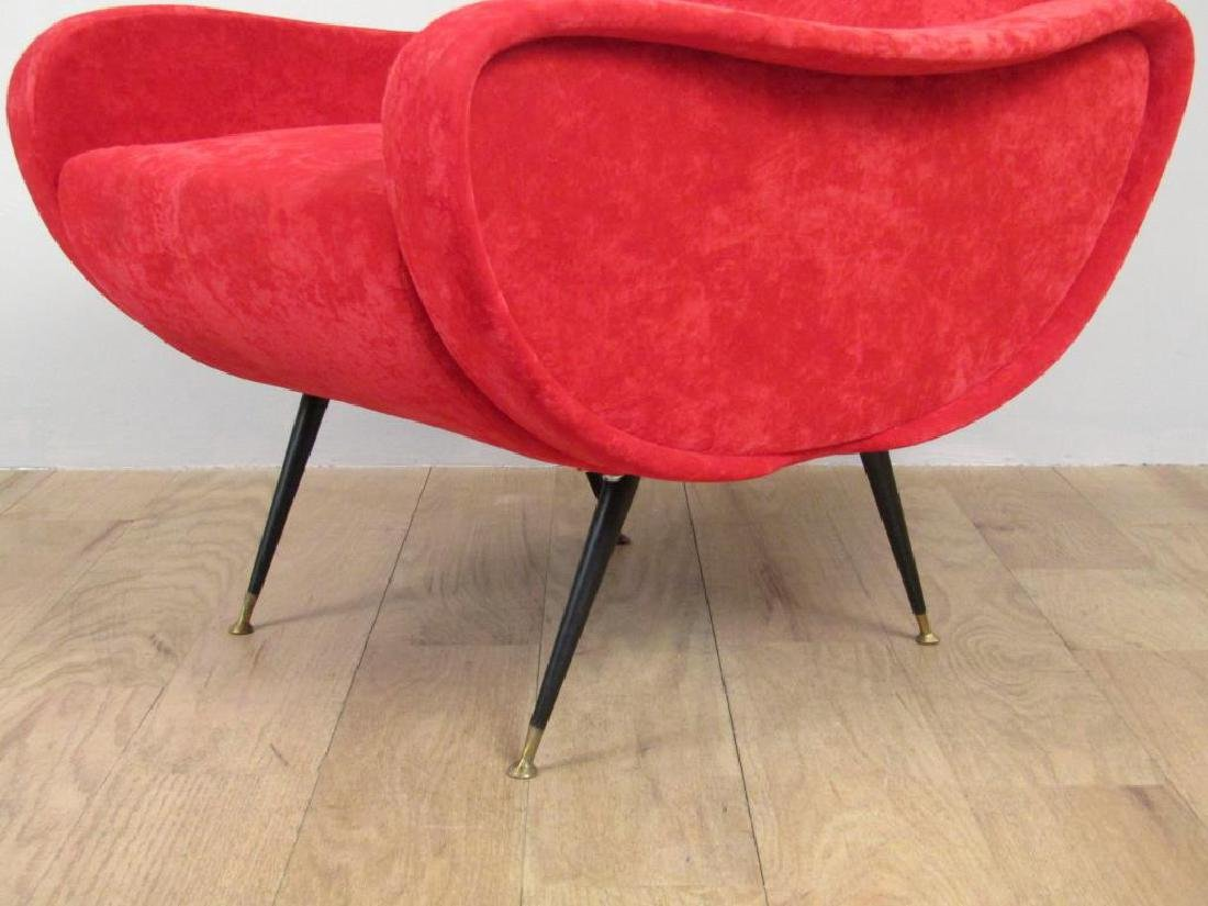 Pair Mid Century Style Arm Chairs - 4