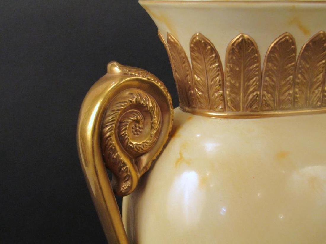 Pair Decorated Metal Urn Form Lamps - 3